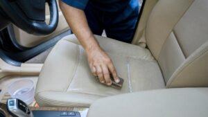 brushing car seats